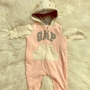 Baby Girl Gap Hooded Sweatshirt Bodysuit